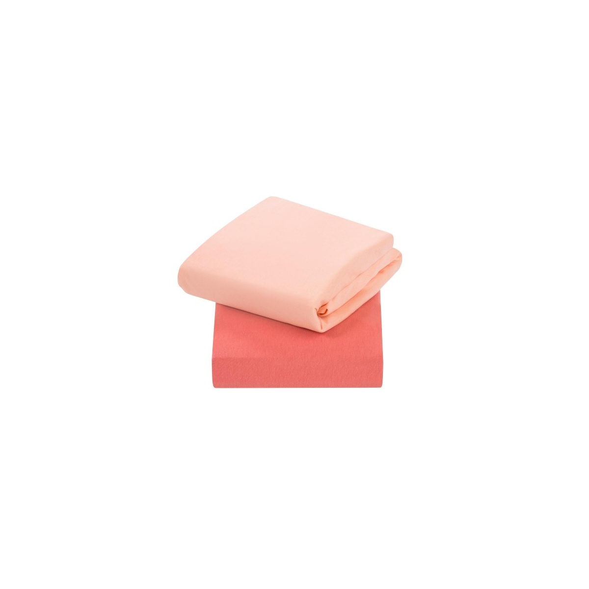 ClevaMama Jersey Cotton Fitted Sheets For Cot Bed (70x140 cm)-Coral