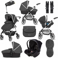 Silver Cross Wayfarer 11 Piece Bundle-Onyx (EXCLUSIVE TO KIDDIES KINGDOM)