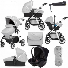 Silver Cross Pioneer 11 Piece Bundle-Platinum (Exclusive to Kiddies Kingdom)