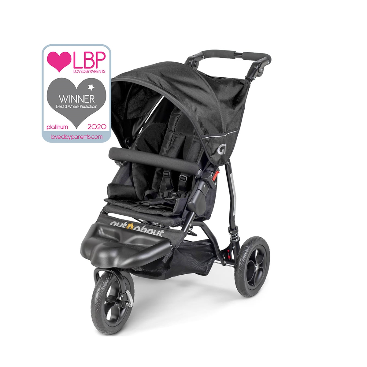Out n About GT Stroller-Raven Black