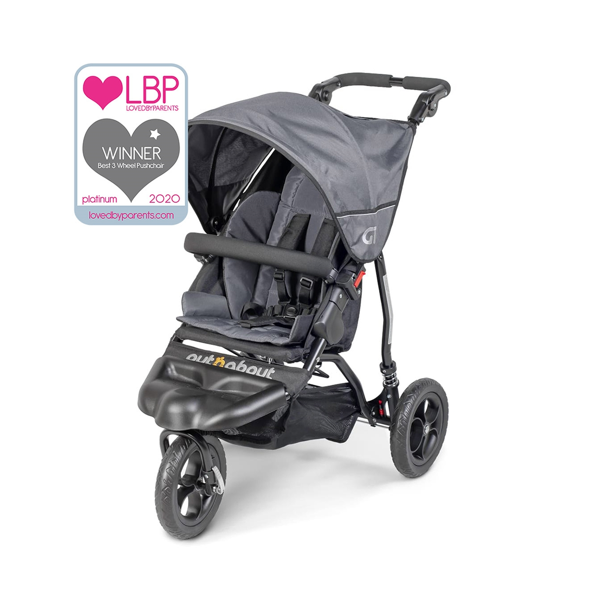 Out n About GT Stroller-Steel Grey