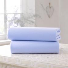 Clair De Lune 2 Pack Fitted Cotton Cot Sheets-Blue