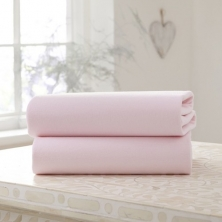 Clair De Lune 2 Pack Fitted Cotton Cot Sheets-Pink
