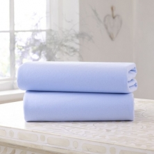 Clair De Lune 2 Pack Fitted Cotton Cot Bed Sheets-Blue
