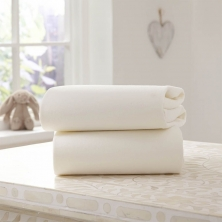 Clair De Lune 2 Pack Fitted Cotton Cot Bed Sheets-Cream