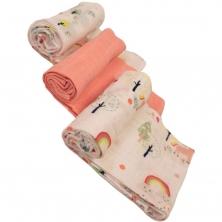 Bizzi Growin Muslin 3PK Diaper Set-Wonderland (NEW)