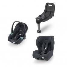 Recaro Avan And Kio Car Seat Base Bundle-Prime Matt Black