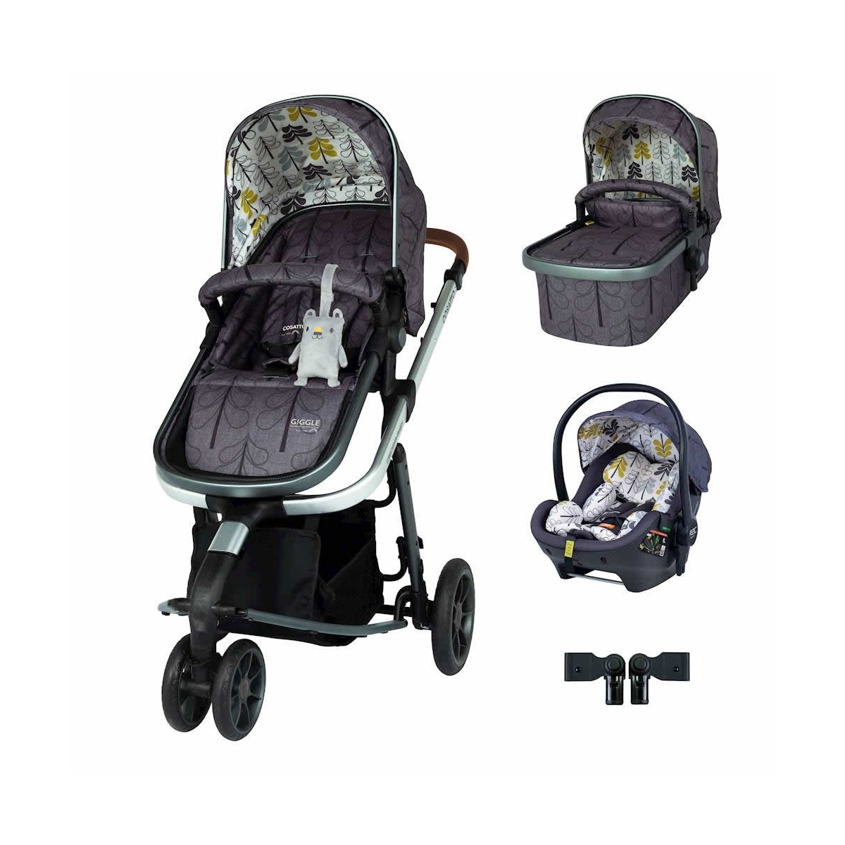Cosatto Giggle 3 Premium Travel System Bundle-Fika Forest