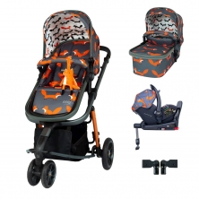 Cosatto Giggle 3 I-Size Travel System Bundle-Charcoal Mister Fox