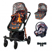 Cosatto Giggle Quad Premium Travel System Bundle-Charcoal Mister Fox