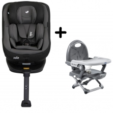 Joie Spin 360 Group 0+/1 Car Seat with FREE Chicco Booster Seat Bundle-Ember