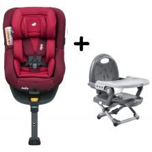Joie Spin 360 Group 0+/1 Car Seat with FREE Chicco Booster Seat Bundle-Merlot