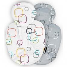 4moms MamaRoo 4.0 Newborn Plush Insert-White & Grey