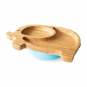 eco rascals Elephant Shaped Bamboo Suction Plate-Blue (NEW)