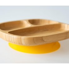 eco rascals Toddler Bamboo Suction Plate-Yellow (NEW)