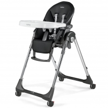 Peg Perego Prima Pappa Follow Me Highchair-Hi Tech Licorice (NEW)
