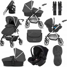 Silver Cross Wayfarer 10 Piece Bundle-Onyx (EXCLUSIVE TO KIDDIES KINGDOM)