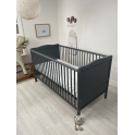 Kiddies Kingdom Cot Bed/Toddler Bed (140 x 70cm)-Grey Including Foam Mattress Worth £40!