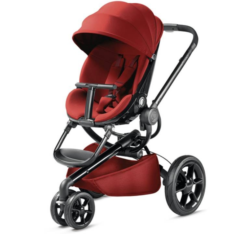 Quinny Moodd Black Frame Pushchair- Red Rumour