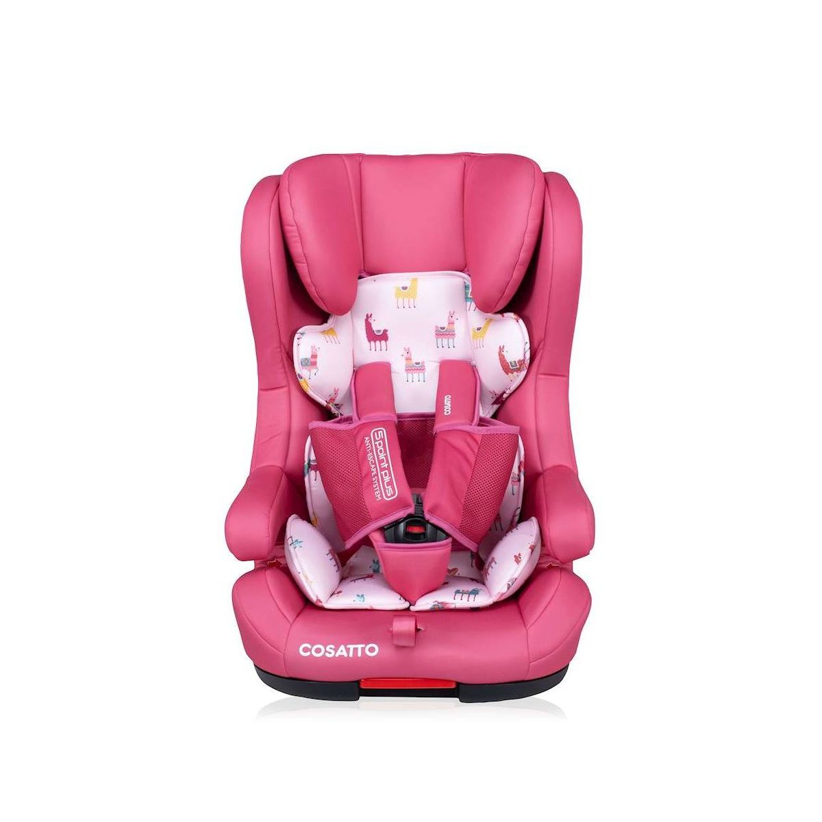 Cosatto Hubbub (5 Point Plus) 1/2/3 Car Seat - Pink Llama