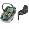 Maxi Cosi Coral i-Size Car Seat with FamilyFix3 Base-Neon Green