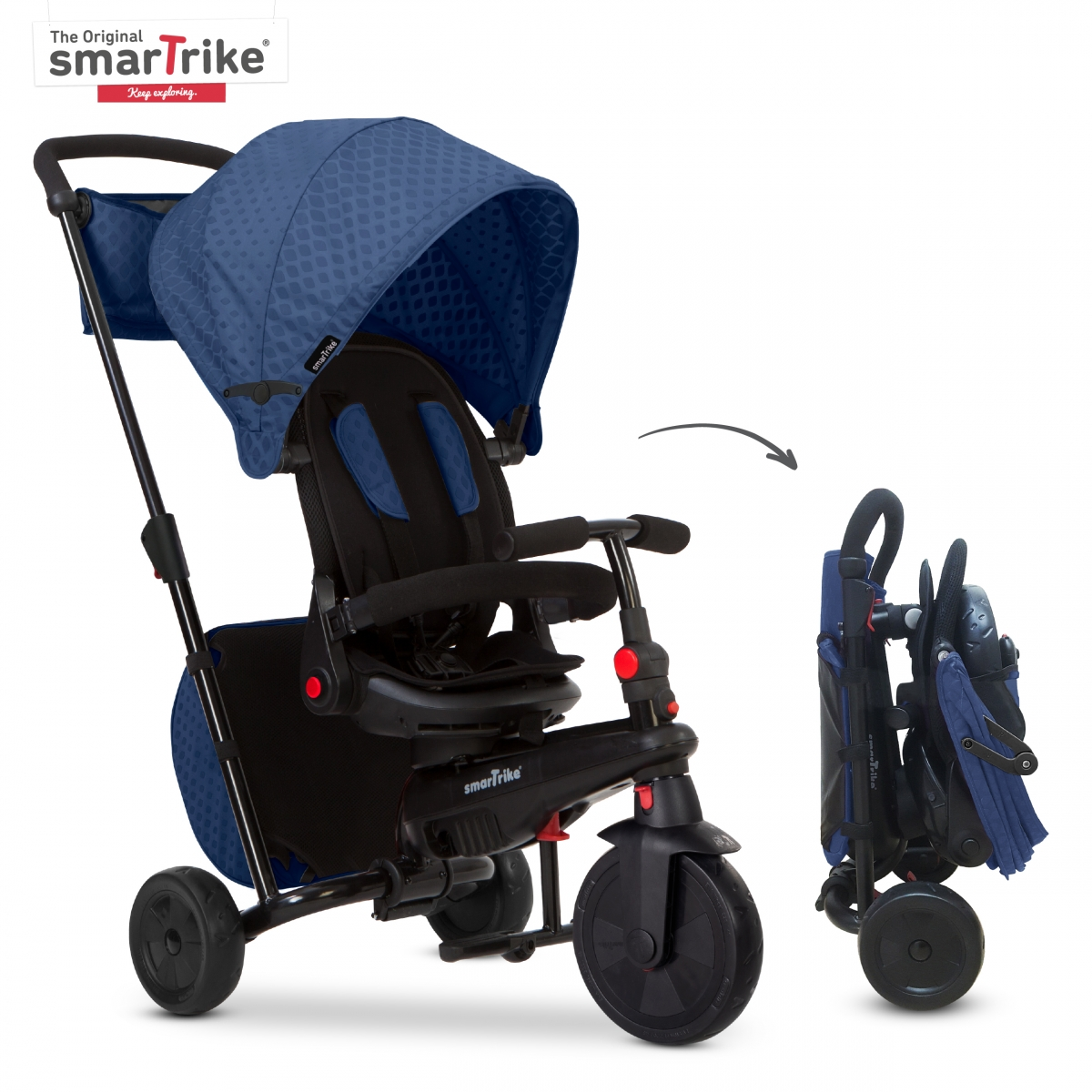 SmarTrike 8in1 Folding Baby Tricycle STR7 Blue (NEW)