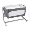 Chicco Next2Me Magic Side Sleeping Crib-Moon Grey + FREE 2 Pack Crib Sheets!