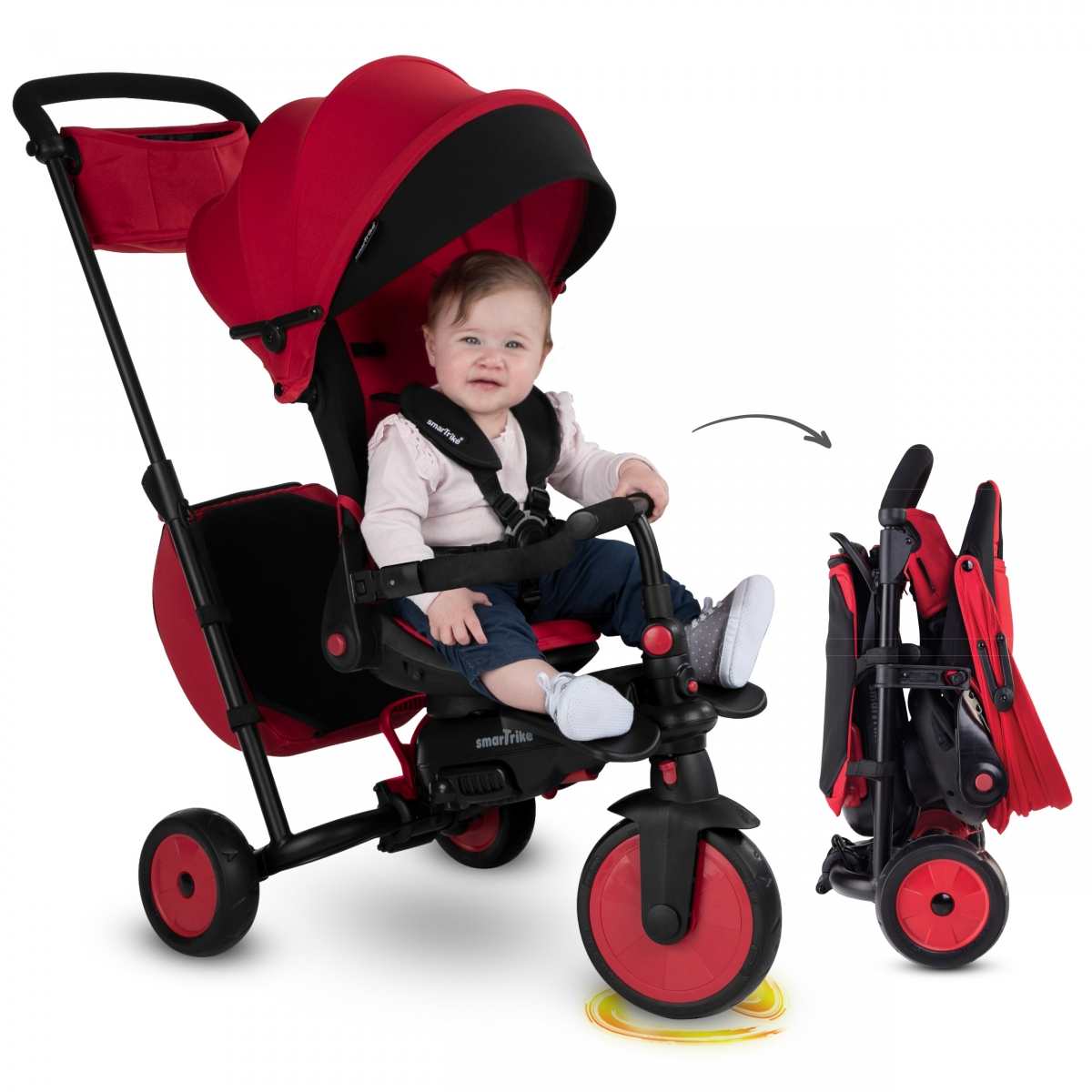 SmarTrike 8in1 Folding Baby Tricycle STR7 Red (NEW)