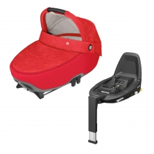 Maxi Cosi Jade Car Seat Carrycot With FamilyFix3 Base-Nomad Red