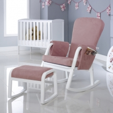 Ickle Bubba Dursley Rocker Chair and Stool- Blush Pink