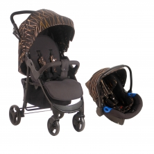 MyBabiie MB30 Stroller And Car Seat-Rose Gold Black (NEW)