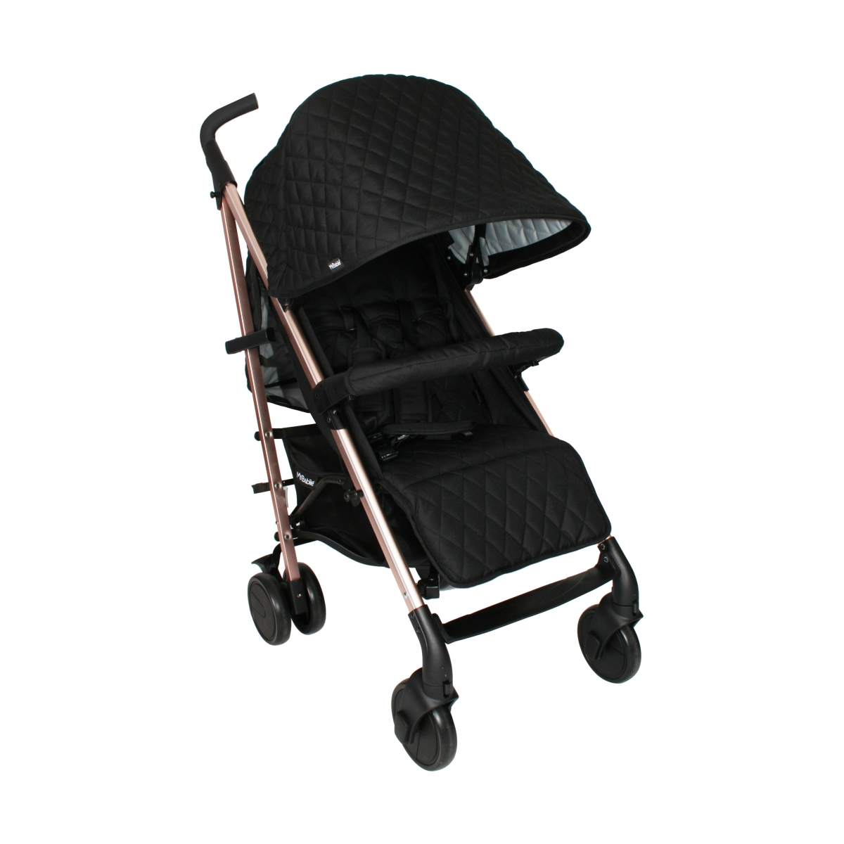 My Babiie Billie Faiers MB51 Rose Gold Black Quilted Stroller (MB51QG)