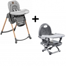 Maxi-Cosi Minla 6-in-1 Highchair With FREE Chicco Booster Seat-Essential Grey