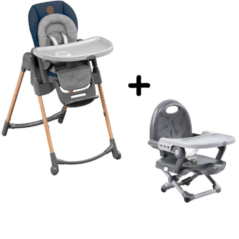 Maxi-Cosi Minla 6-in-1 Highchair With FREE Chicco Booster Seat-Essential Blue