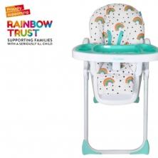 My Babiie Premium Highchair -Rainbows