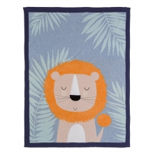 Bizzi Growin Ludvic Lion Knitted Blanket (NEW)