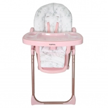 Your Babiie Nicole Polizzi MAWMA Premium Highchair-Rose Gold Marble