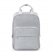 Bizzi Growin Vegan Leather Rucpod Travel Bag-Whisper Grey (NEW)
