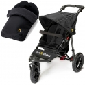 Out n About Nipper Single 360 V4 2in1 Footmuff Bundle -Black Raven