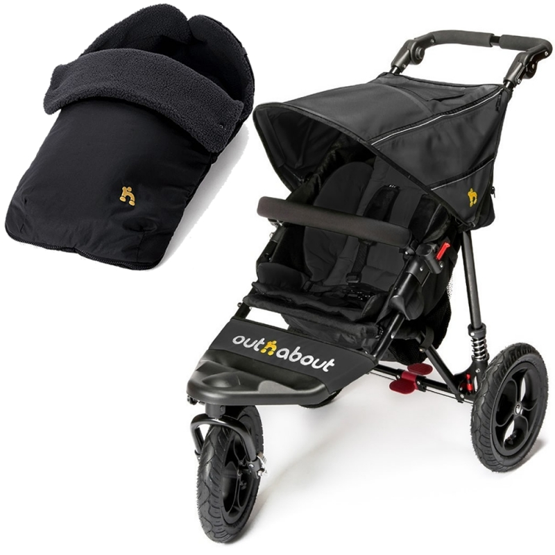 Out n About Nipper Single 360 V4 2in1 -Black Raven
