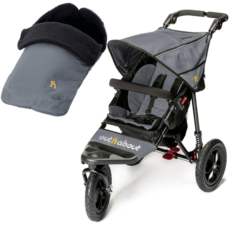 Out n About Nipper Single 360 V4 2in1 Travel System-Steel Grey