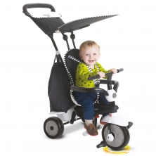 SmarTrike Glow 4in1 Baby Trike-Black & White (NEW)