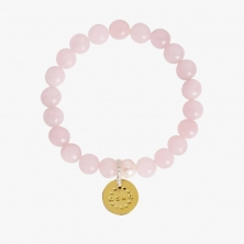 Aska Maternity Movement Bracelet-Rose Quartz Gold (NEW)