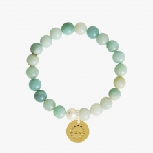 Aska Maternity Movement Bracelet-Amazonite Gold (NEW)