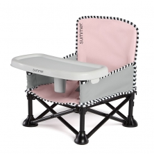 Summer Infant Pop N Sit Booster Seat-Pink (NEW)