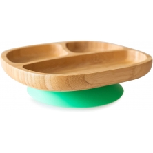 eco rascals Toddler Bamboo Suction Plate-Green (NEW)