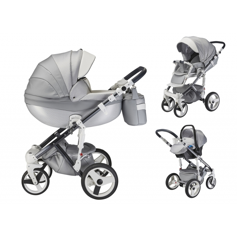 Mee-Go Milano Special Edition 3in1 Travel System-Silver Charm (2021) + Free Changing Bag Worth £80!