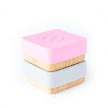 eco rascals Bamboo Snack Pots-Pink & Grey (NEW)
