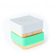 eco rascals Bamboo Snack Pots-Green & Grey (NEW)