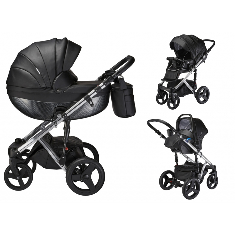 Mee-Go Milano Special Edition 3in1 Travel System-Ebony (2021) + Free Changing Bag Worth £80!